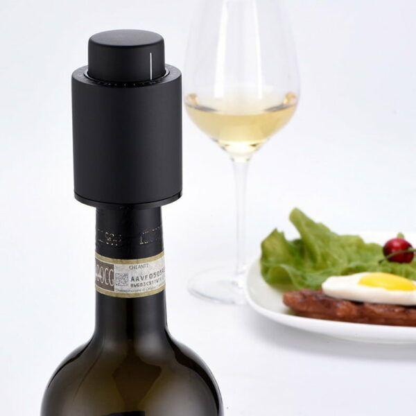 Wine Maven   Vacuum Sealed Wine Bottle Stopper H547897eaacfb4145b2198b6cba8529c68a